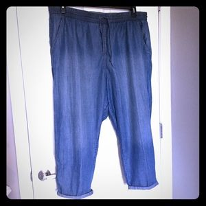 Gap denim joggers
